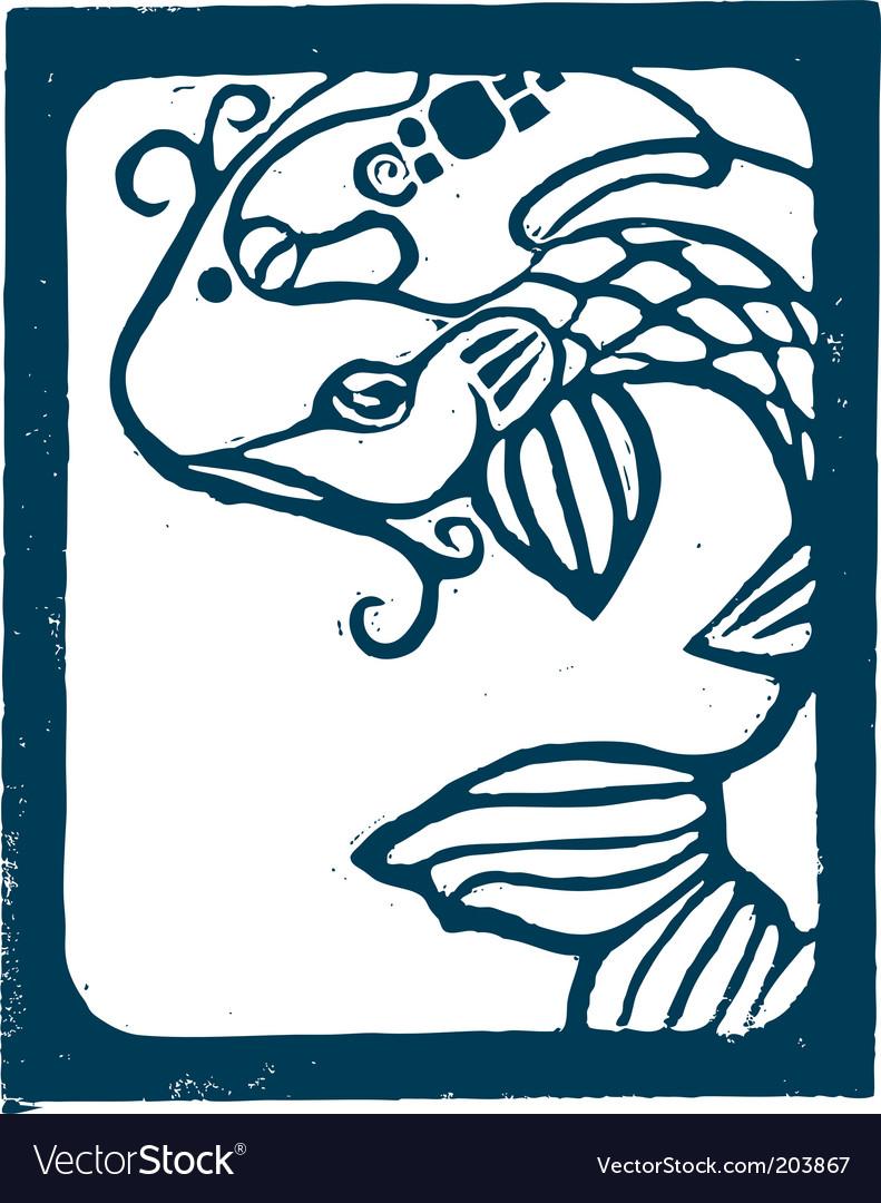 Blue koi vector | Price: 1 Credit (USD $1)