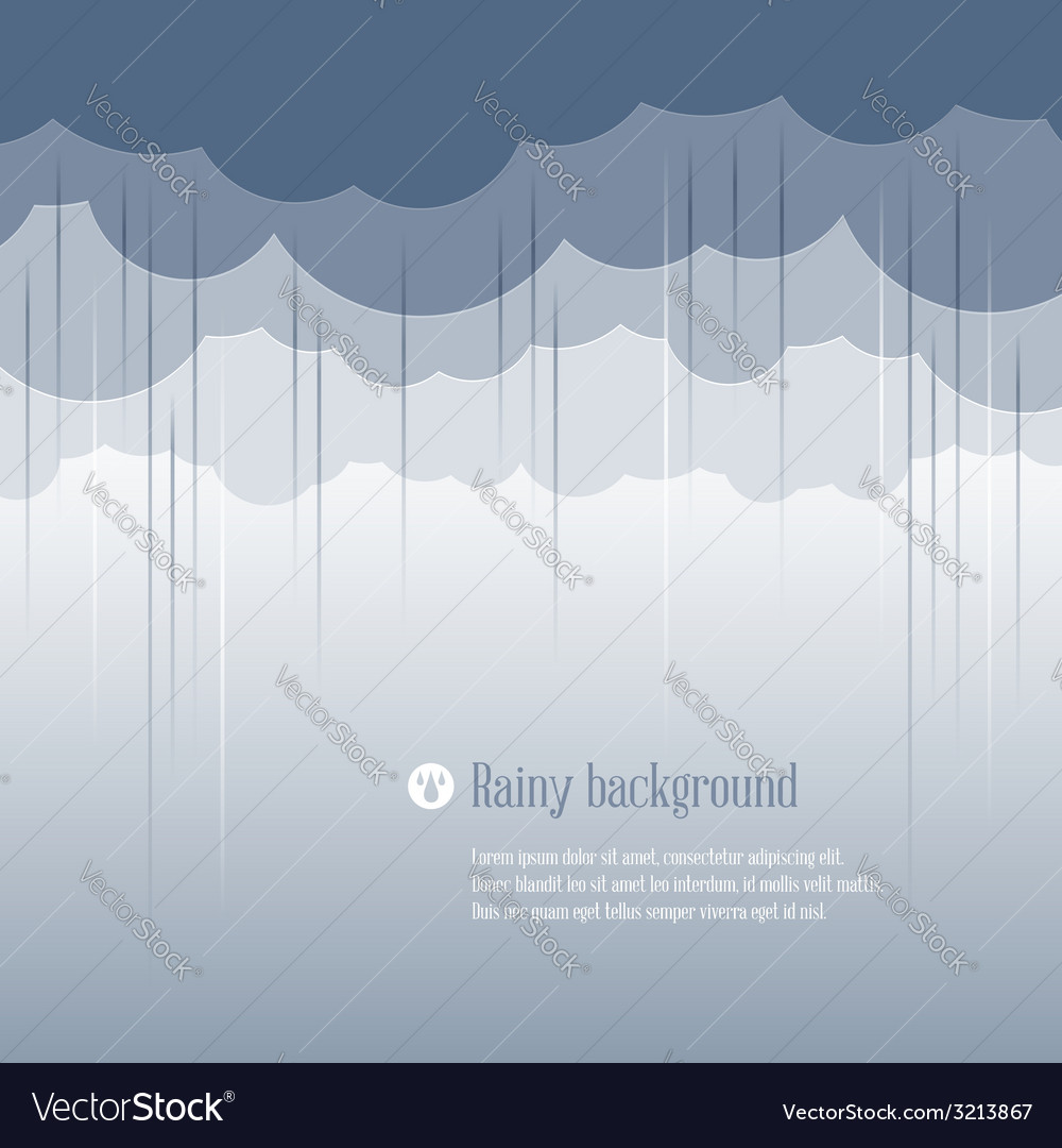 Clouds rainy vector | Price: 1 Credit (USD $1)