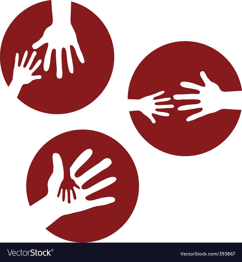 Kids hands together vector | Price: 1 Credit (USD $1)