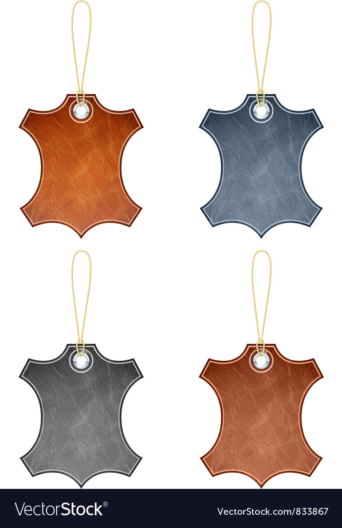 Leather label vector | Price: 3 Credit (USD $3)