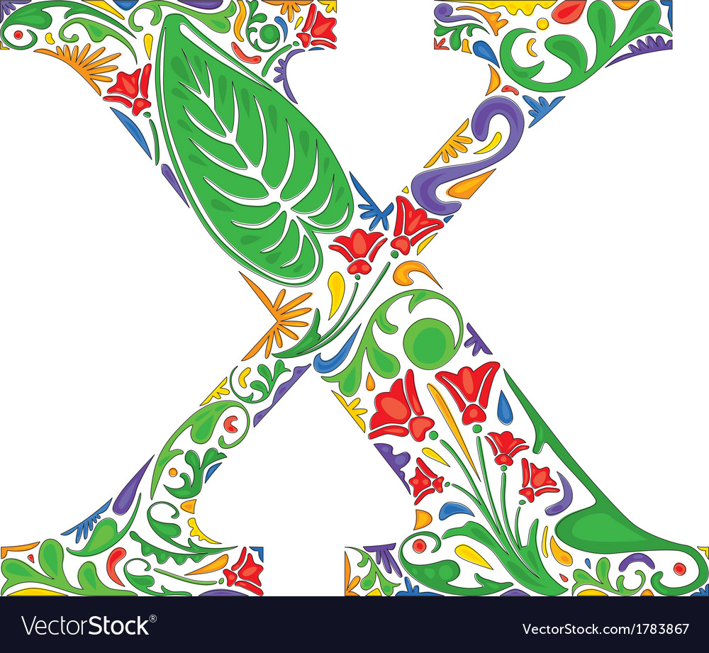 Letter x vector | Price: 1 Credit (USD $1)