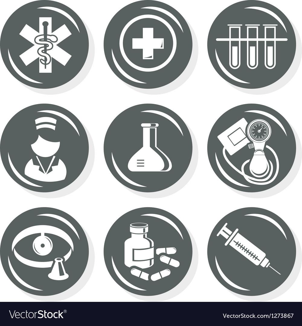 Medical nurse icons vector   Price: 1 Credit (USD $1)