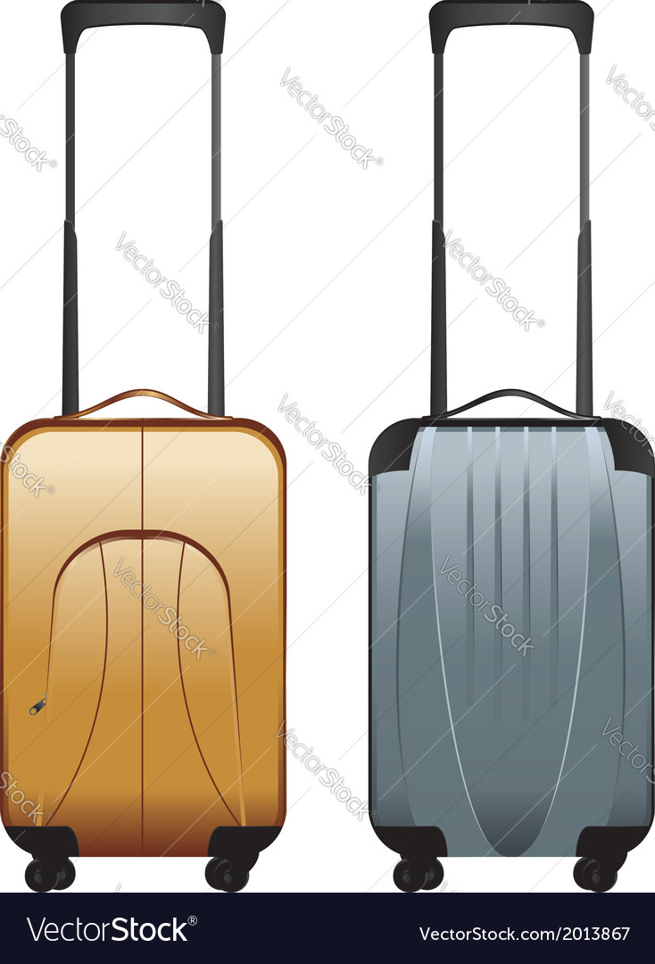 Suitcases on wheels vector   Price: 1 Credit (USD $1)