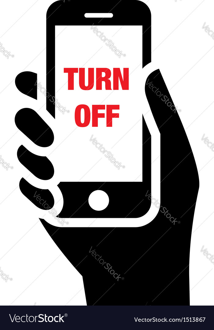 Turn off mobile phones icon vector | Price: 1 Credit (USD $1)