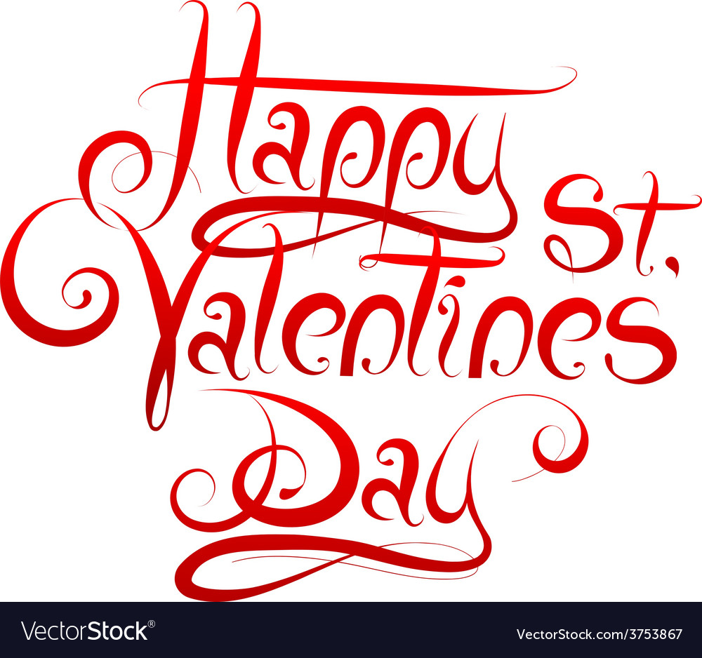 Valentines day greetings calligraphy vector   Price: 1 Credit (USD $1)