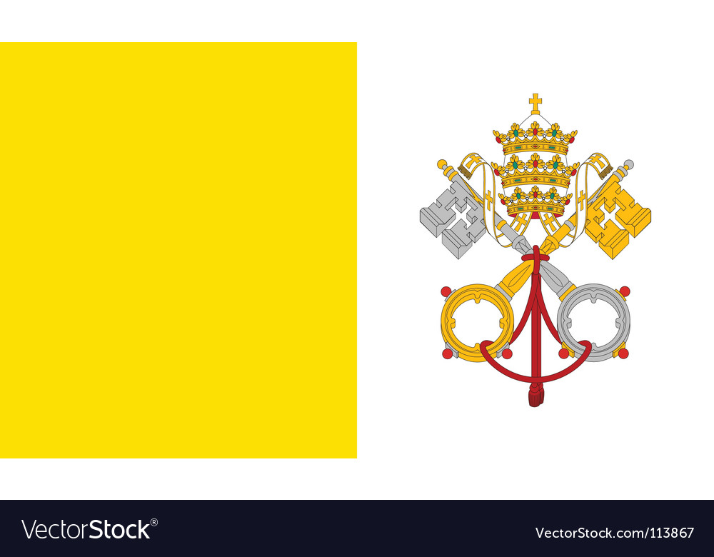 Vatican city holy see flag vector | Price: 1 Credit (USD $1)