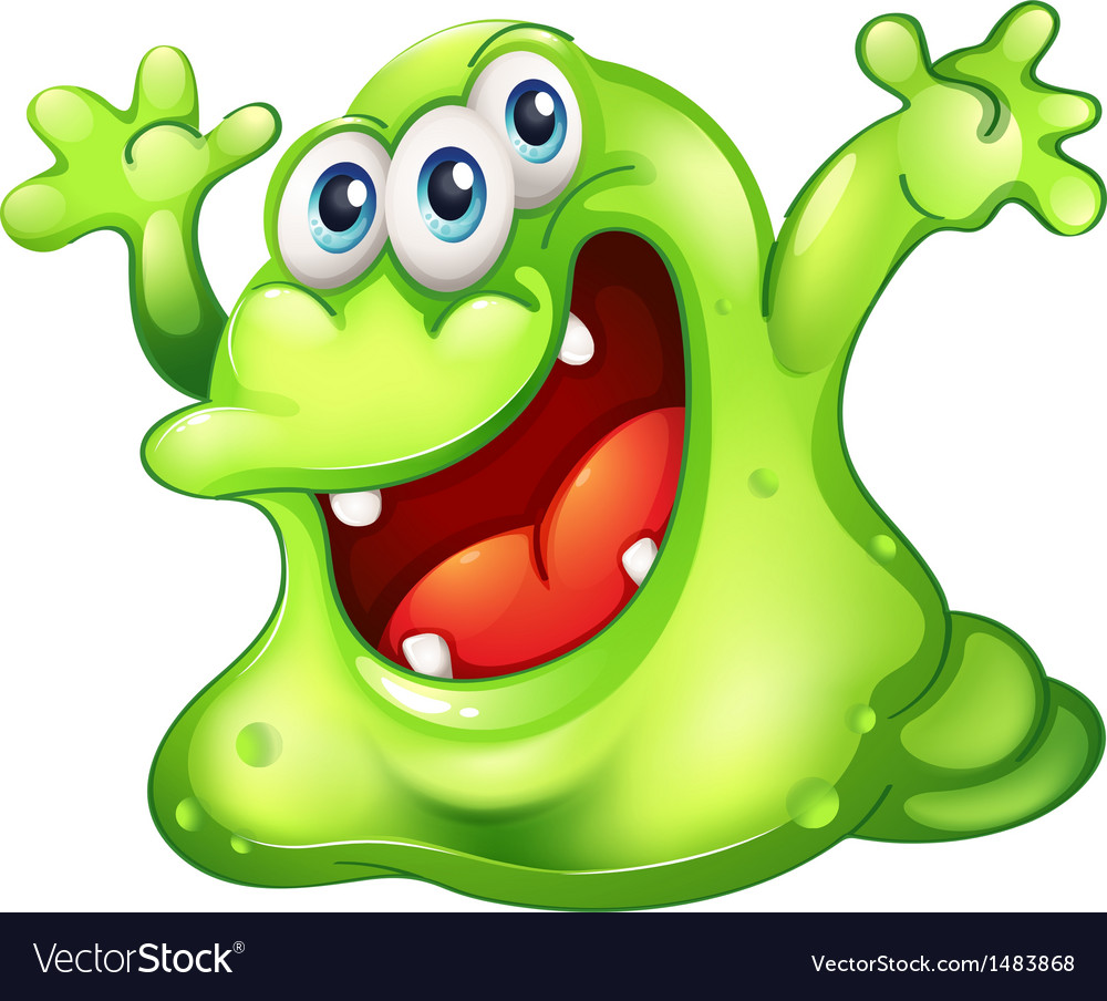 A green slime monster vector | Price: 1 Credit (USD $1)