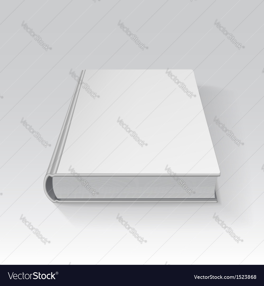 Blank book drawn in perspective with gradient mesh vector | Price: 1 Credit (USD $1)