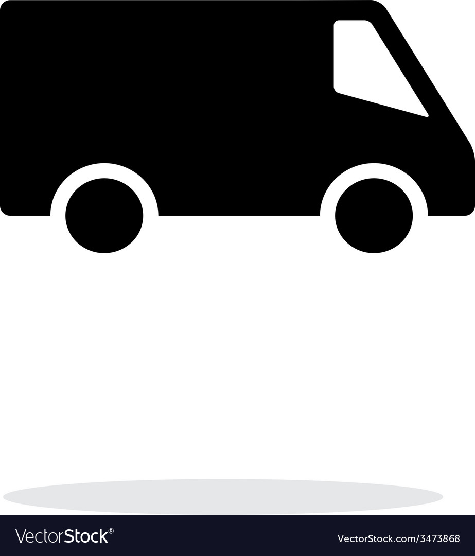 Delivery minibus icon on white background vector | Price: 1 Credit (USD $1)