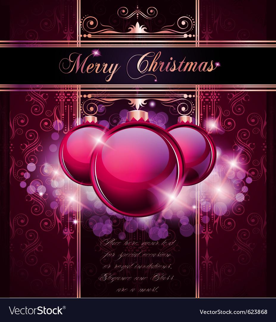 Elegant merry christmas vector | Price: 3 Credit (USD $3)