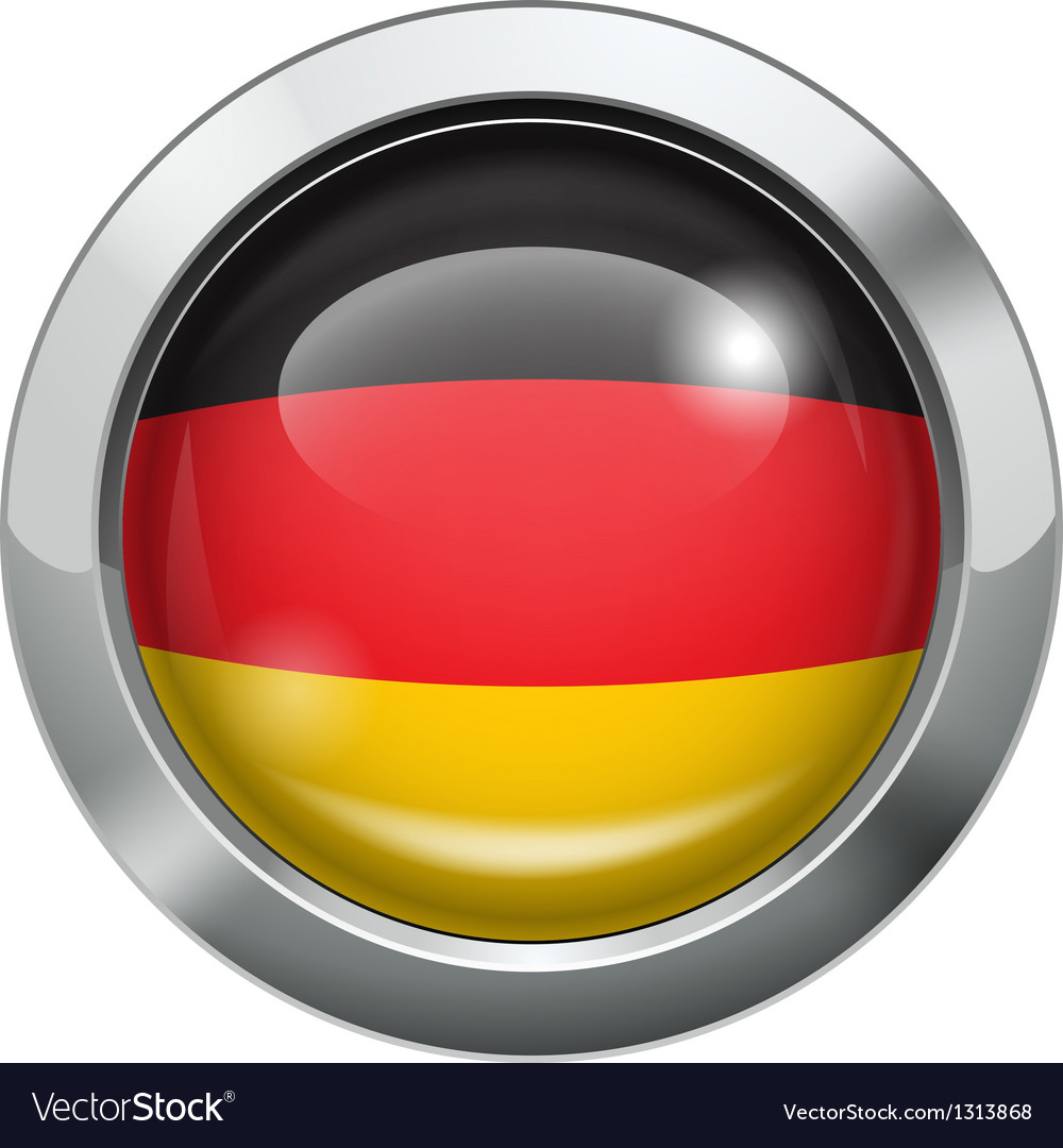 Germany flag metal button vector | Price: 3 Credit (USD $3)