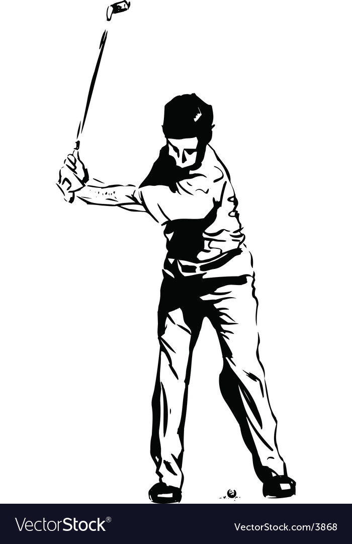 Golf pose vector | Price: 1 Credit (USD $1)