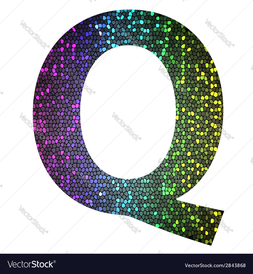 Letter q vector | Price: 1 Credit (USD $1)