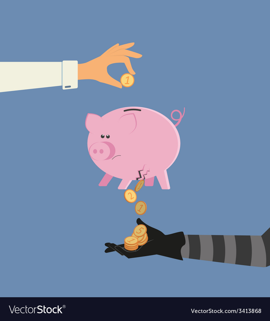 Money stealing vector | Price: 1 Credit (USD $1)