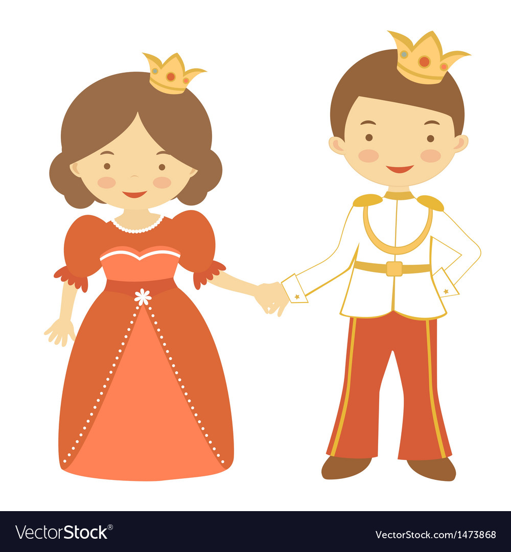 Prince and princess2 vector | Price: 1 Credit (USD $1)