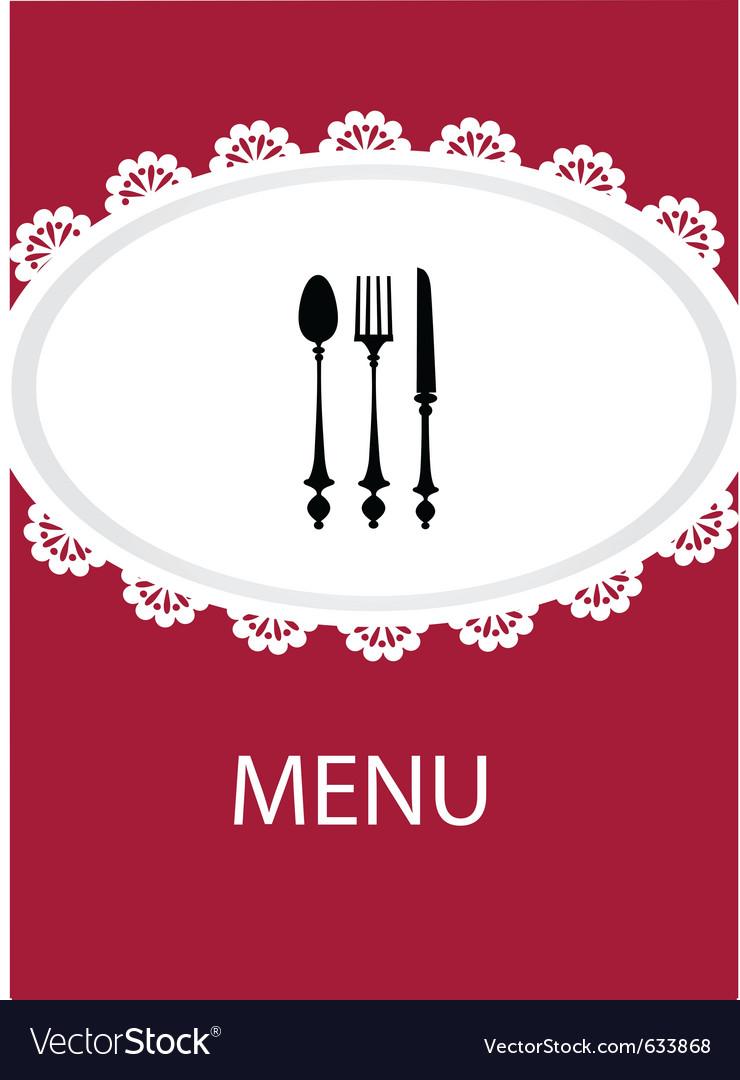 Restaurant menu design with table utensil vector | Price: 1 Credit (USD $1)
