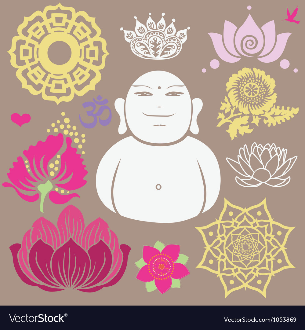 Budda set vector | Price: 1 Credit (USD $1)