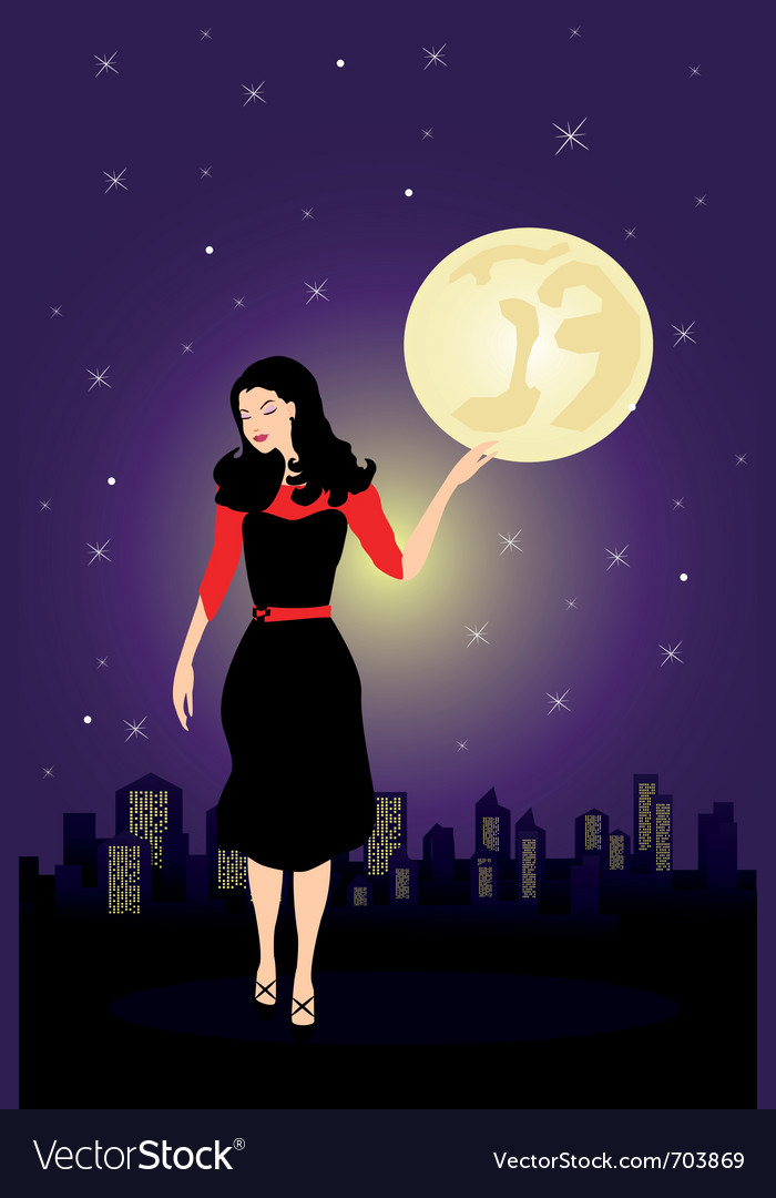 City woman vector | Price: 1 Credit (USD $1)