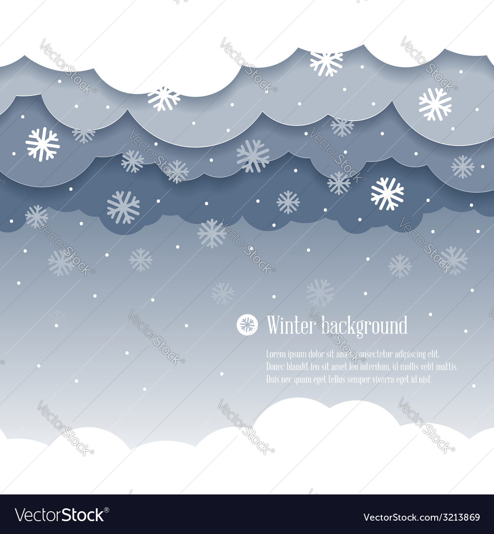 Clouds winter vector | Price: 1 Credit (USD $1)