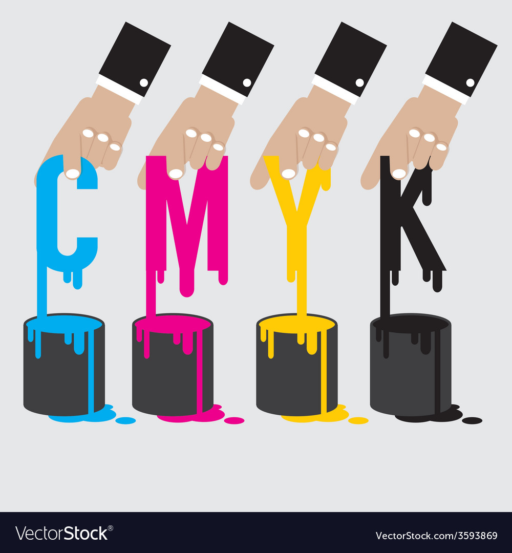 Cmyk - cyan magenta yellow and black the offset vector | Price: 1 Credit (USD $1)