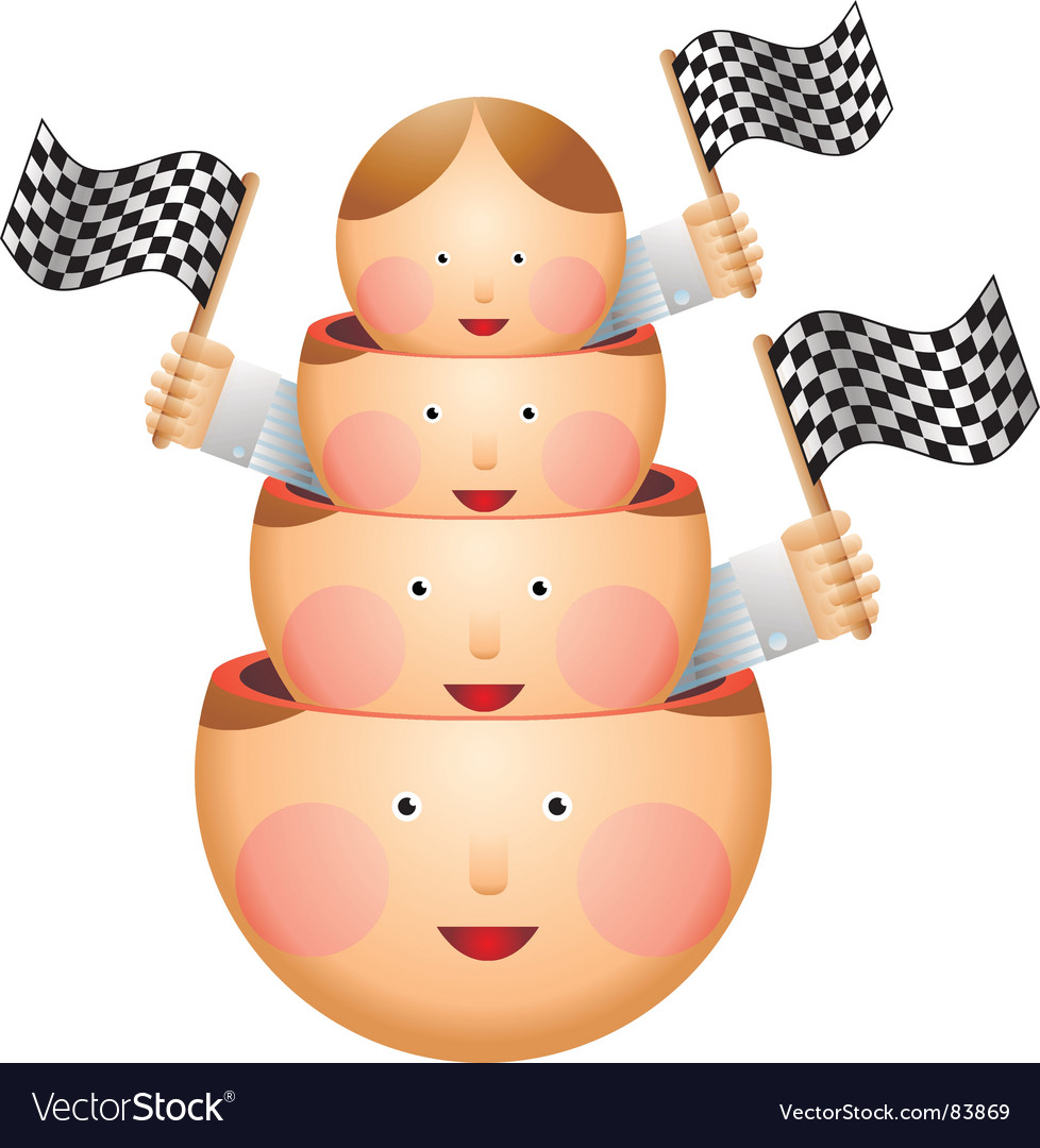 Crowd at the race vector | Price: 3 Credit (USD $3)