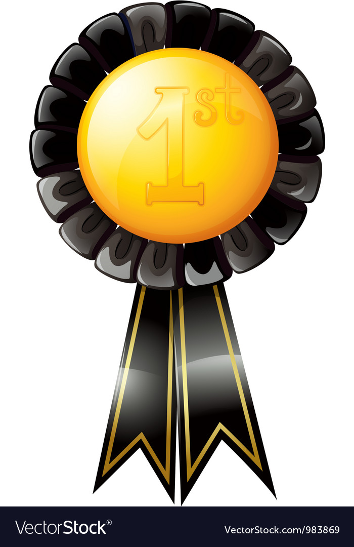 First place award ribbon vector | Price: 1 Credit (USD $1)