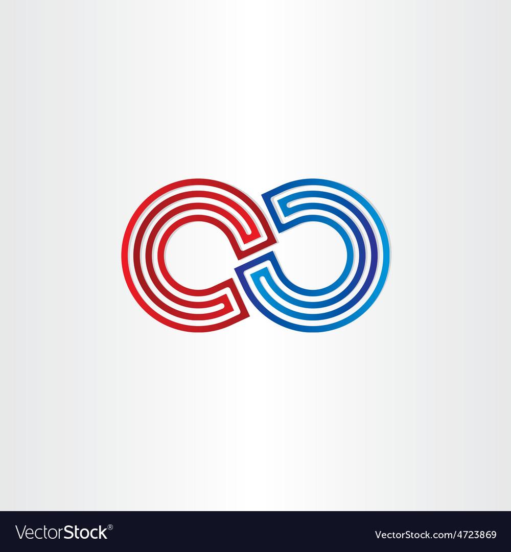 Infinity symbol icon design vector | Price: 1 Credit (USD $1)