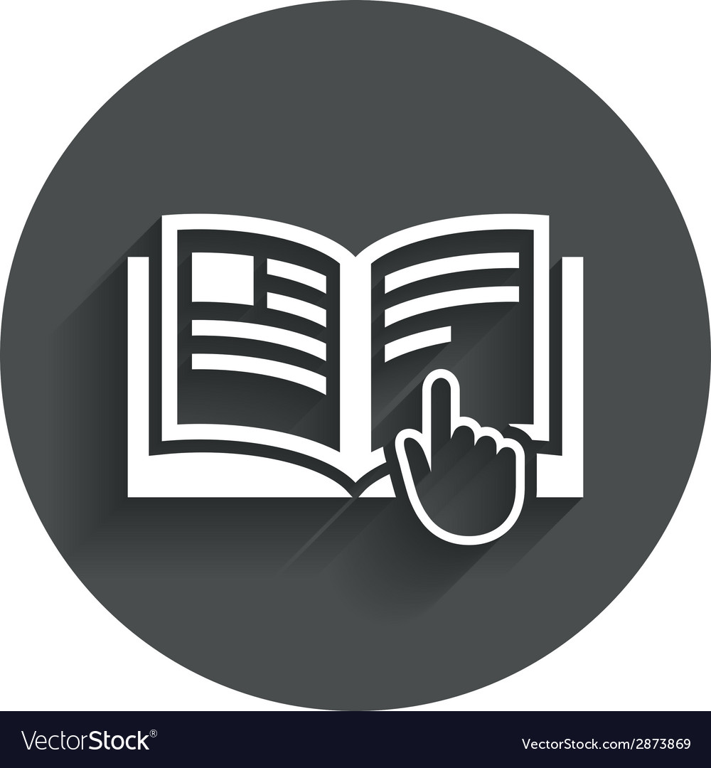 Instruction sign icon manual book symbol vector | Price: 1 Credit (USD $1)