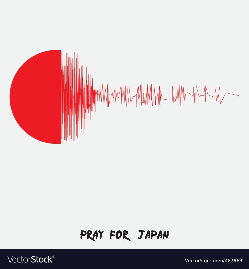 Japan flag vector | Price: 1 Credit (USD $1)