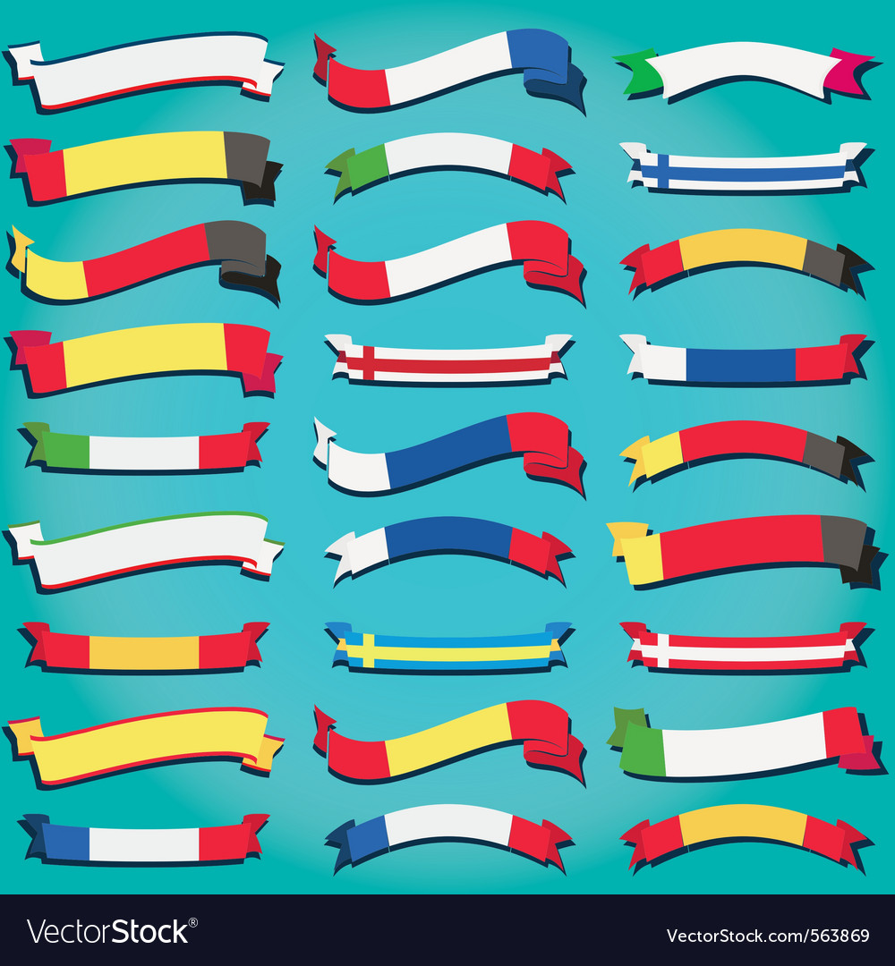 Ribbons of europe vector | Price: 1 Credit (USD $1)
