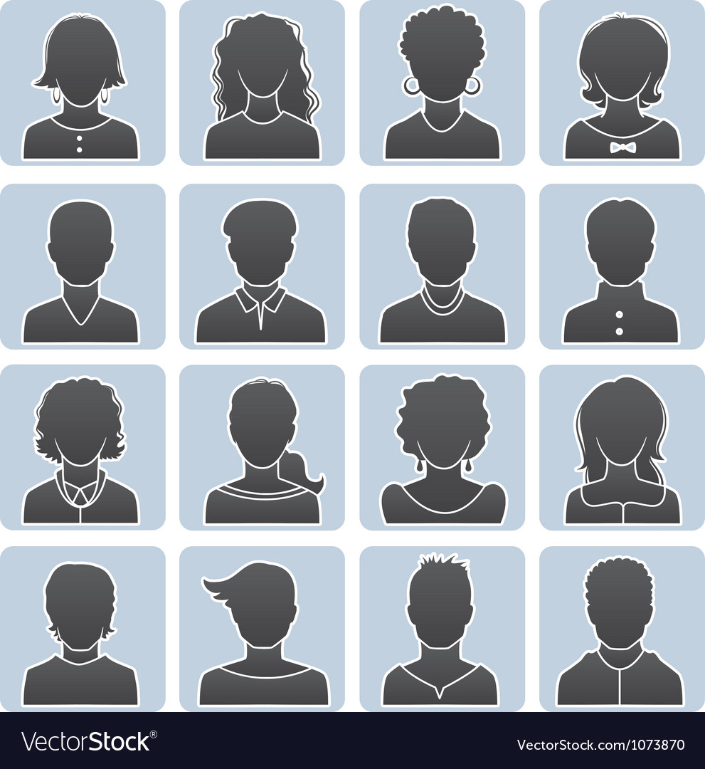 Avatars set vector | Price: 1 Credit (USD $1)