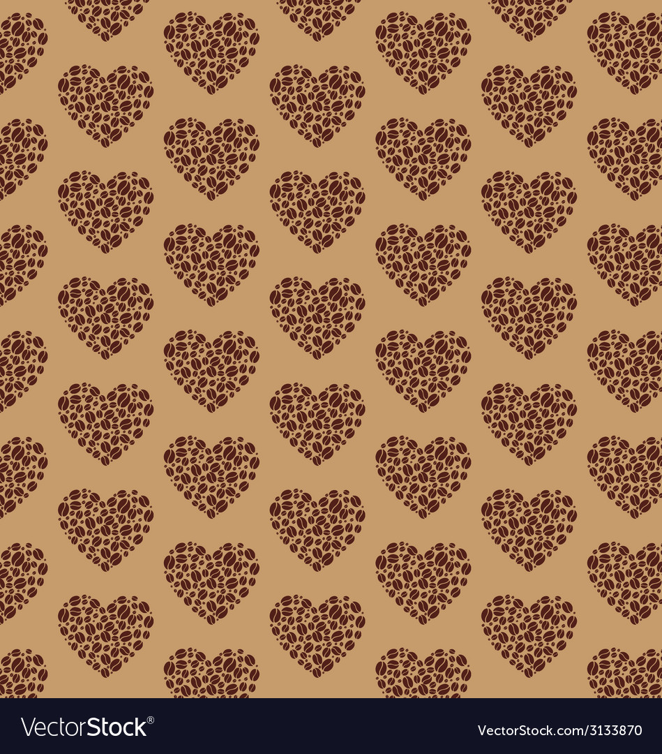 Coffee pattern heart vector | Price: 1 Credit (USD $1)