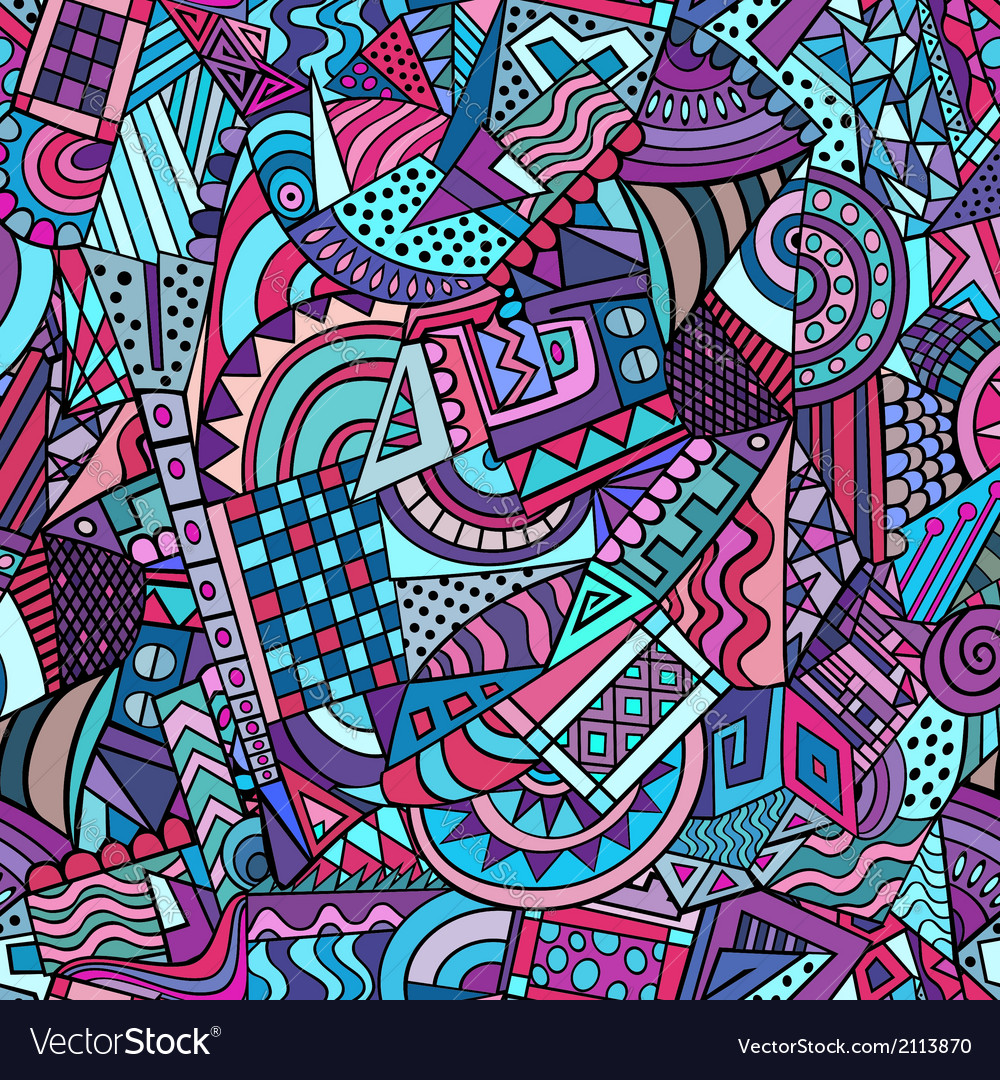 Geometric abstract decorative pattern vector | Price: 1 Credit (USD $1)