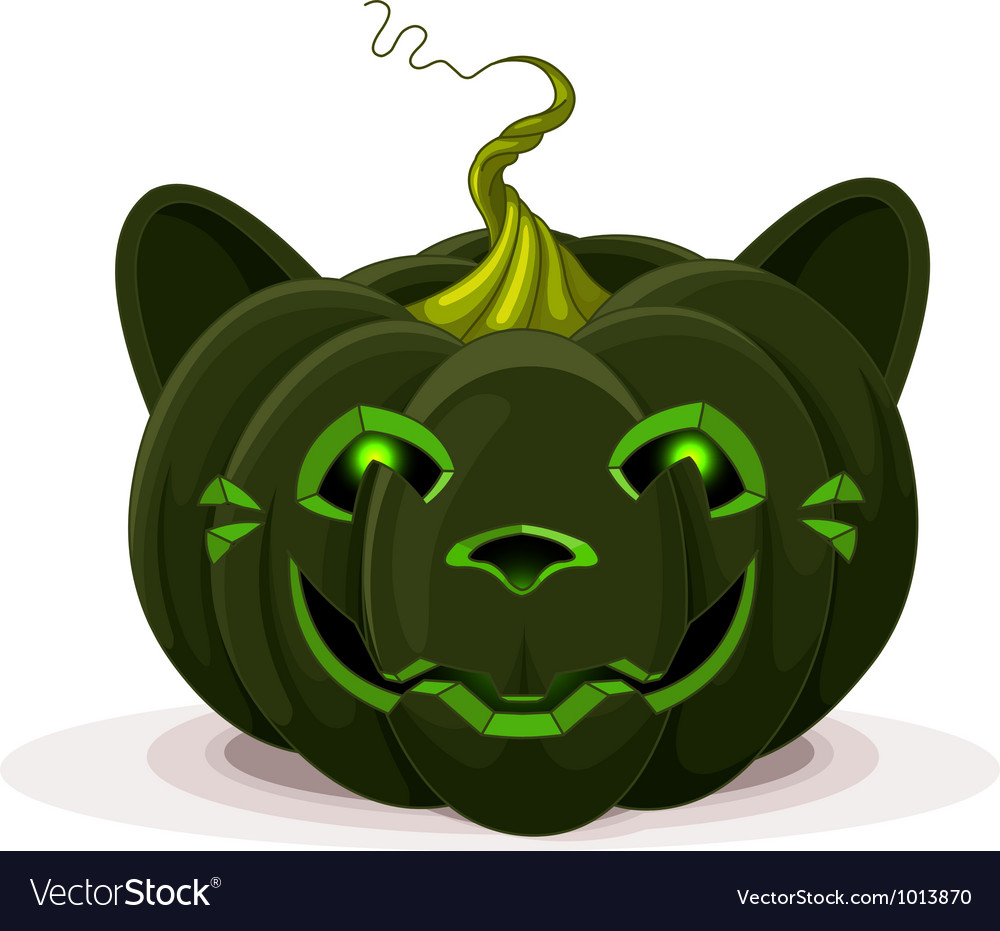 Halloween pumpkin cat vector | Price: 3 Credit (USD $3)