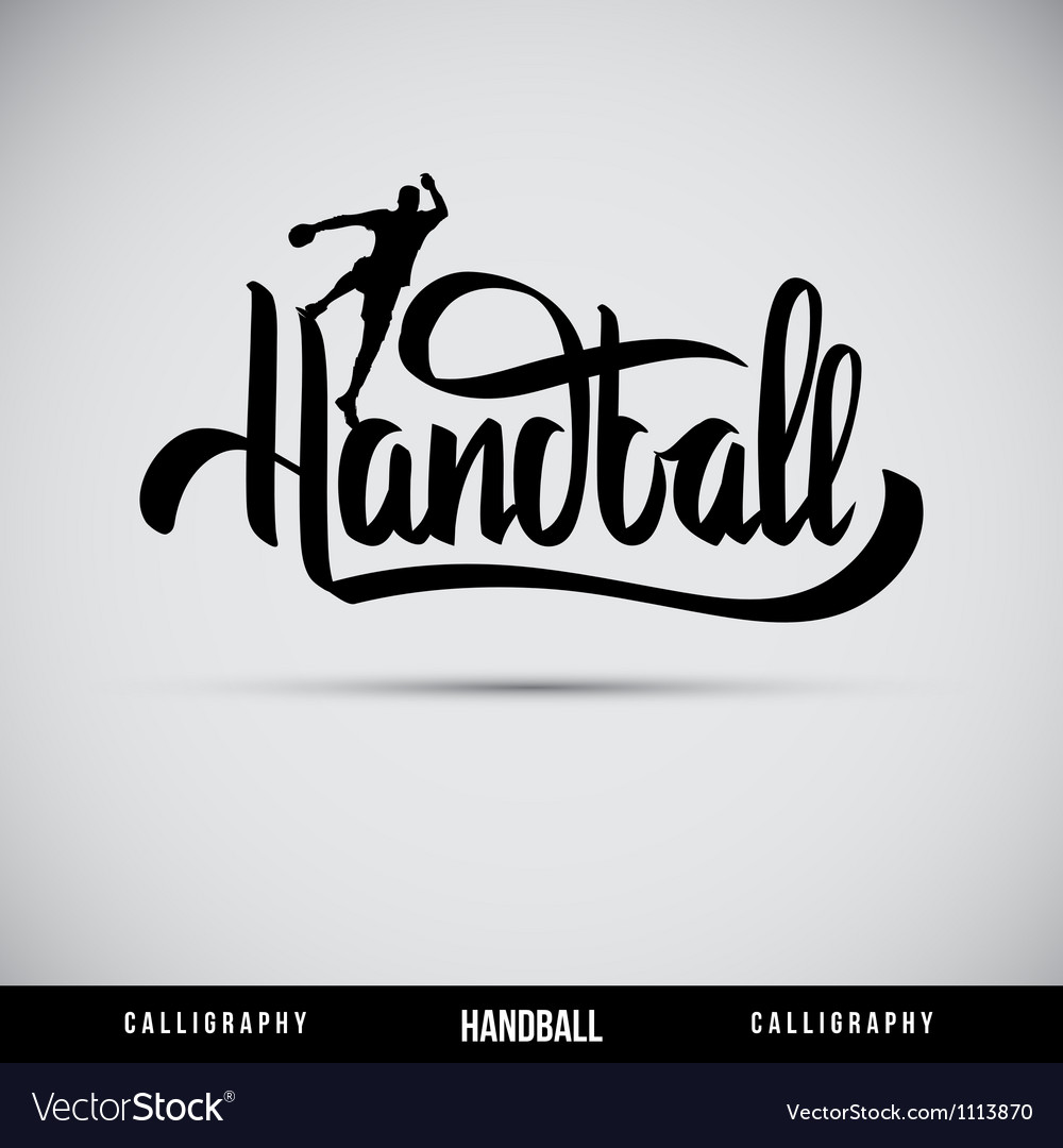 Handball hand lettering - handmade calligraphy vector | Price: 1 Credit (USD $1)