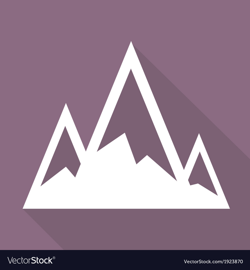 Mountains web icon vector | Price: 1 Credit (USD $1)