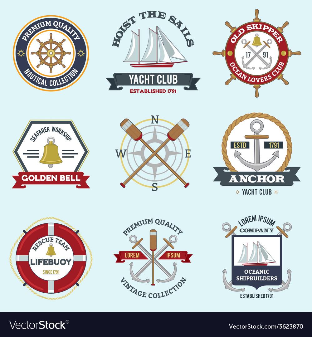 Nautical labels set vector | Price: 1 Credit (USD $1)