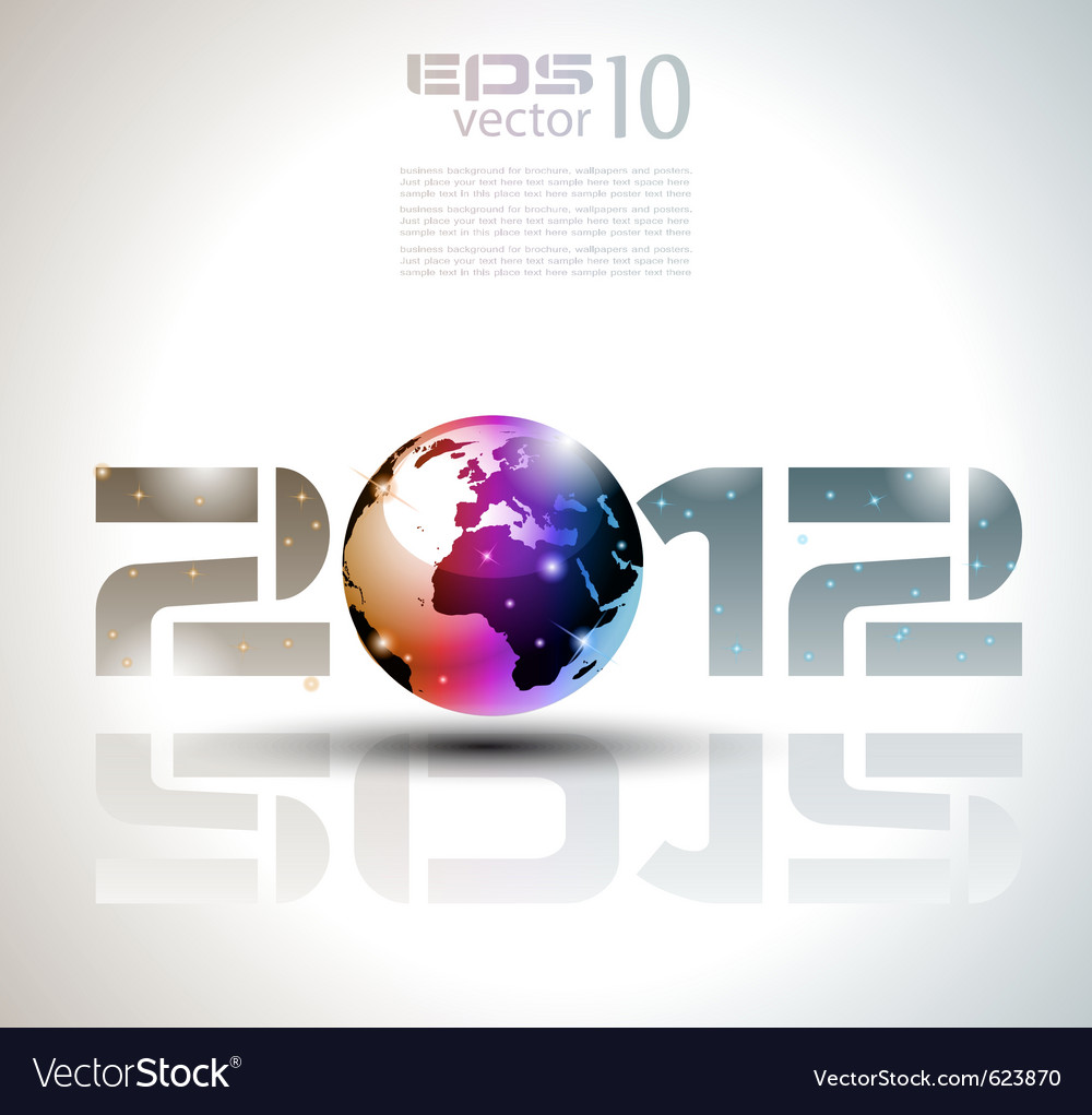 New year world vector | Price: 3 Credit (USD $3)