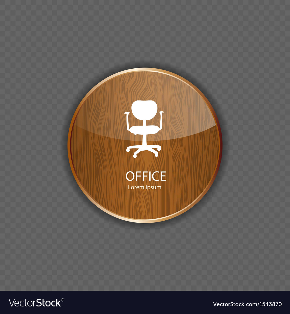 Office wood application icons vector | Price: 1 Credit (USD $1)