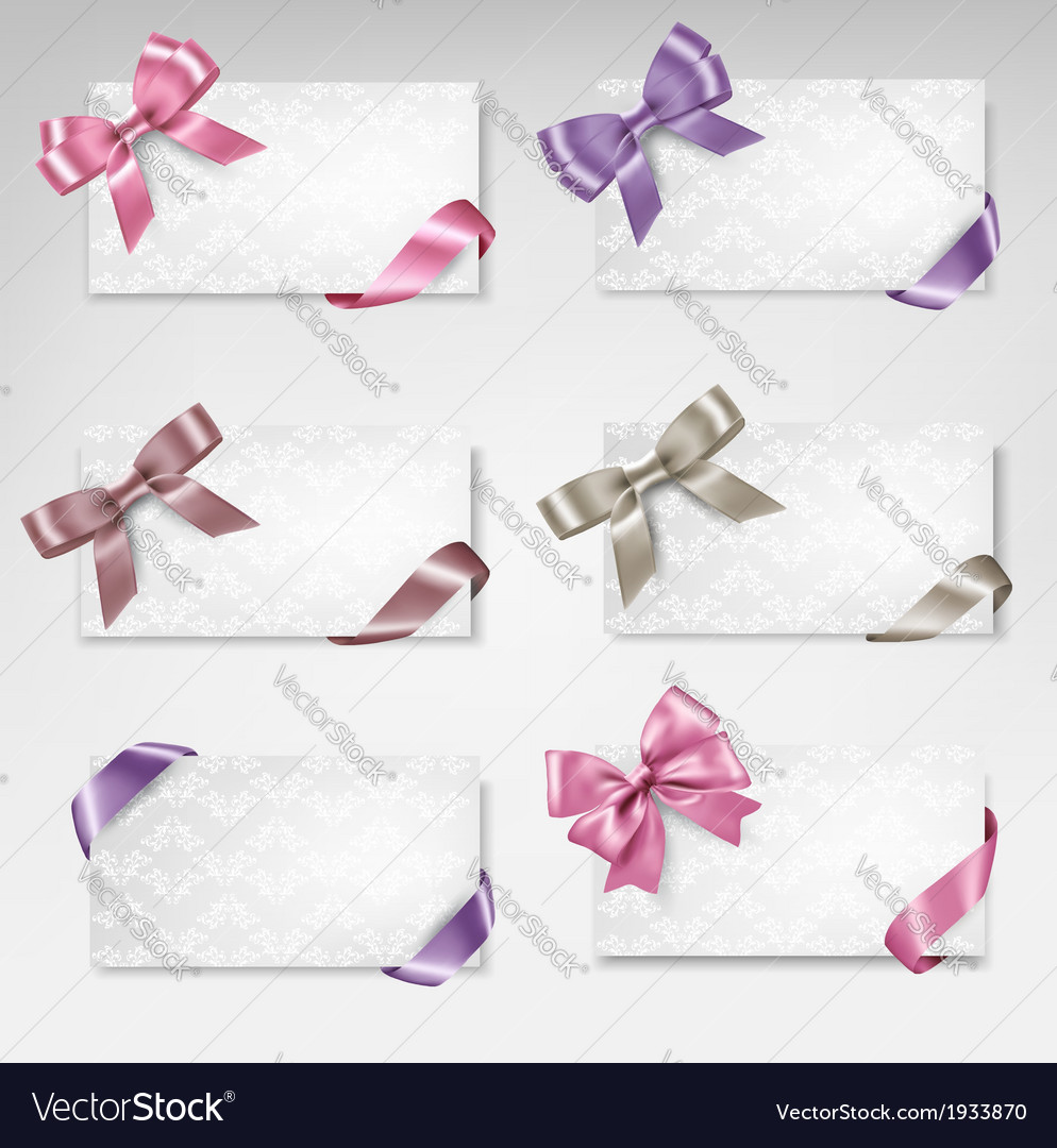 Set of beautiful gift cards with colorful gift vector | Price: 1 Credit (USD $1)