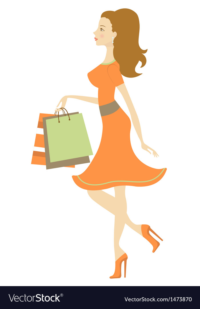 Shopping beauty vector | Price: 1 Credit (USD $1)