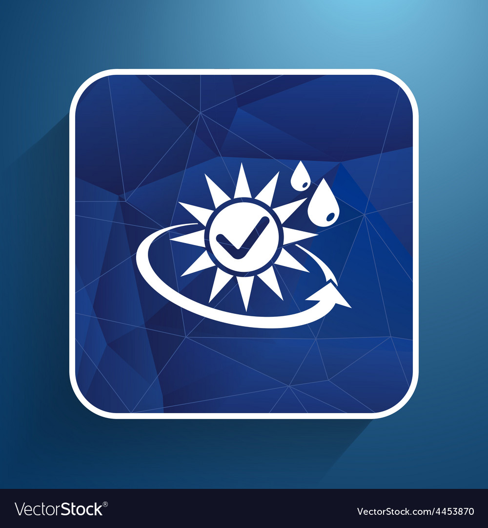 Sun protection block icon sunblock skin isolated vector | Price: 1 Credit (USD $1)