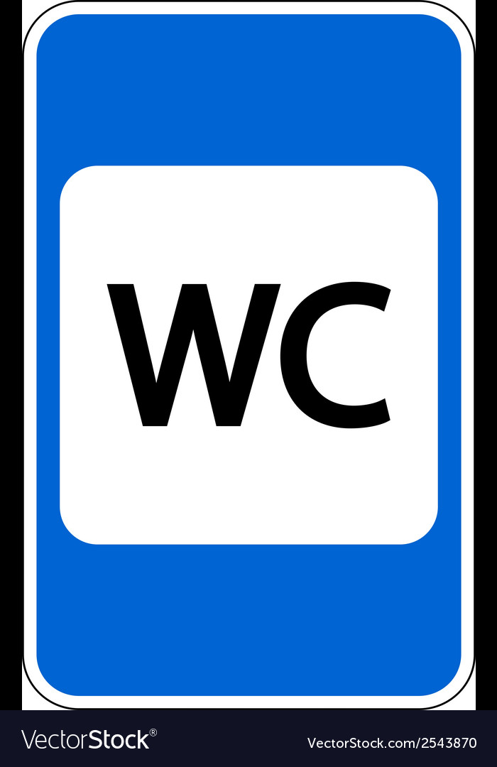 Toilet road sign vector | Price: 1 Credit (USD $1)