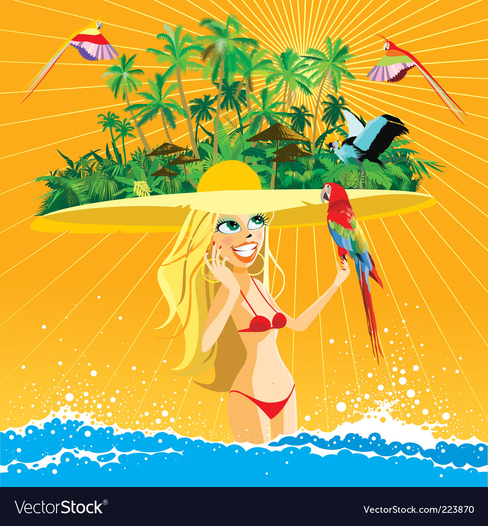 Tropical paradise vector | Price: 5 Credit (USD $5)