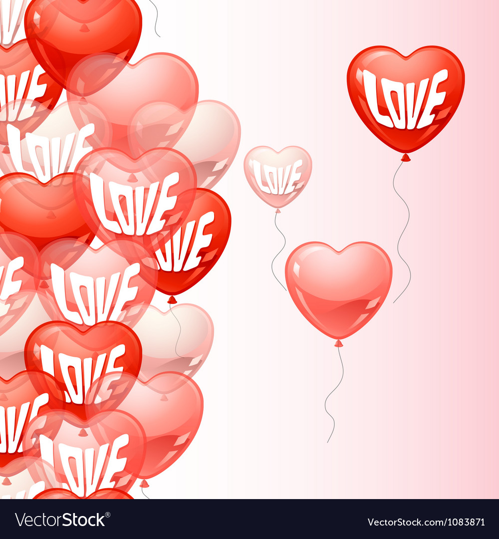 Background with flying balloons in the shape of a vector | Price: 1 Credit (USD $1)