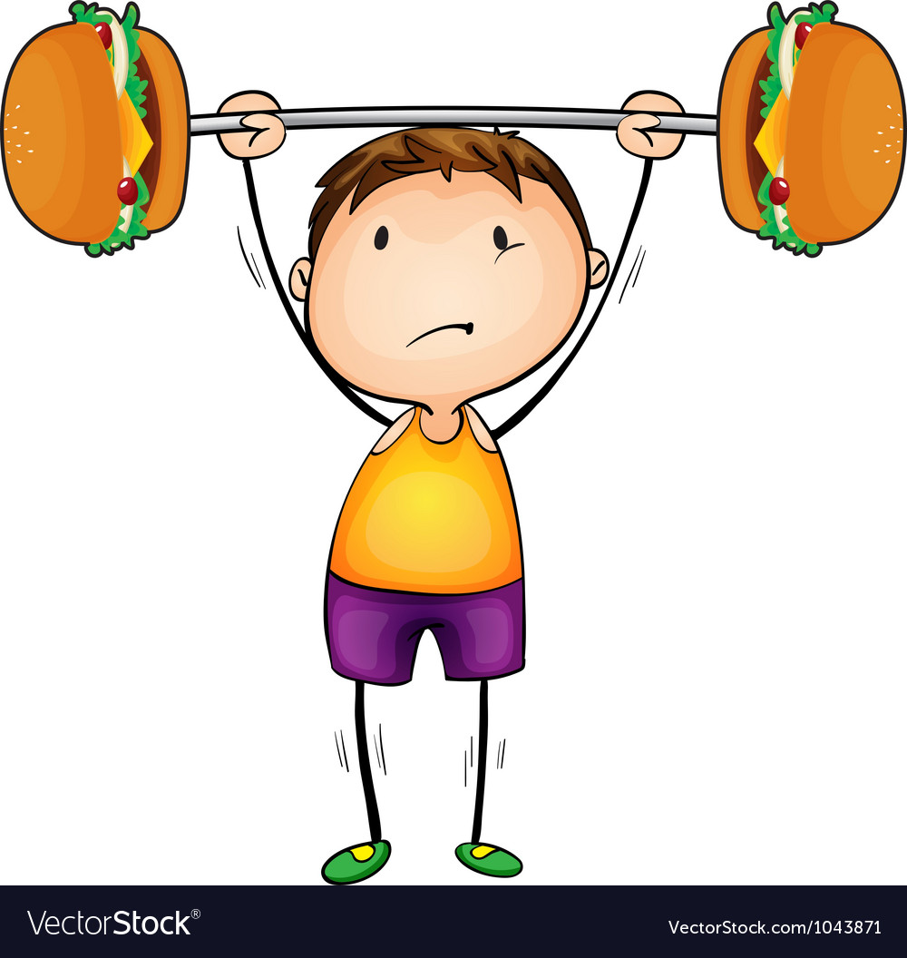 Boy and excercise vector | Price: 1 Credit (USD $1)