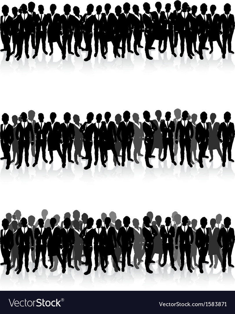 Business people in a row vector | Price: 1 Credit (USD $1)