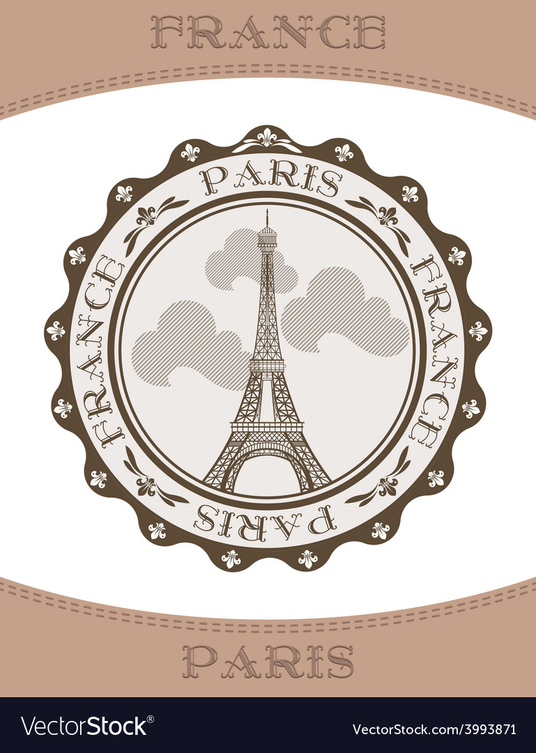 Icon eiffel tower vector   Price: 1 Credit (USD $1)