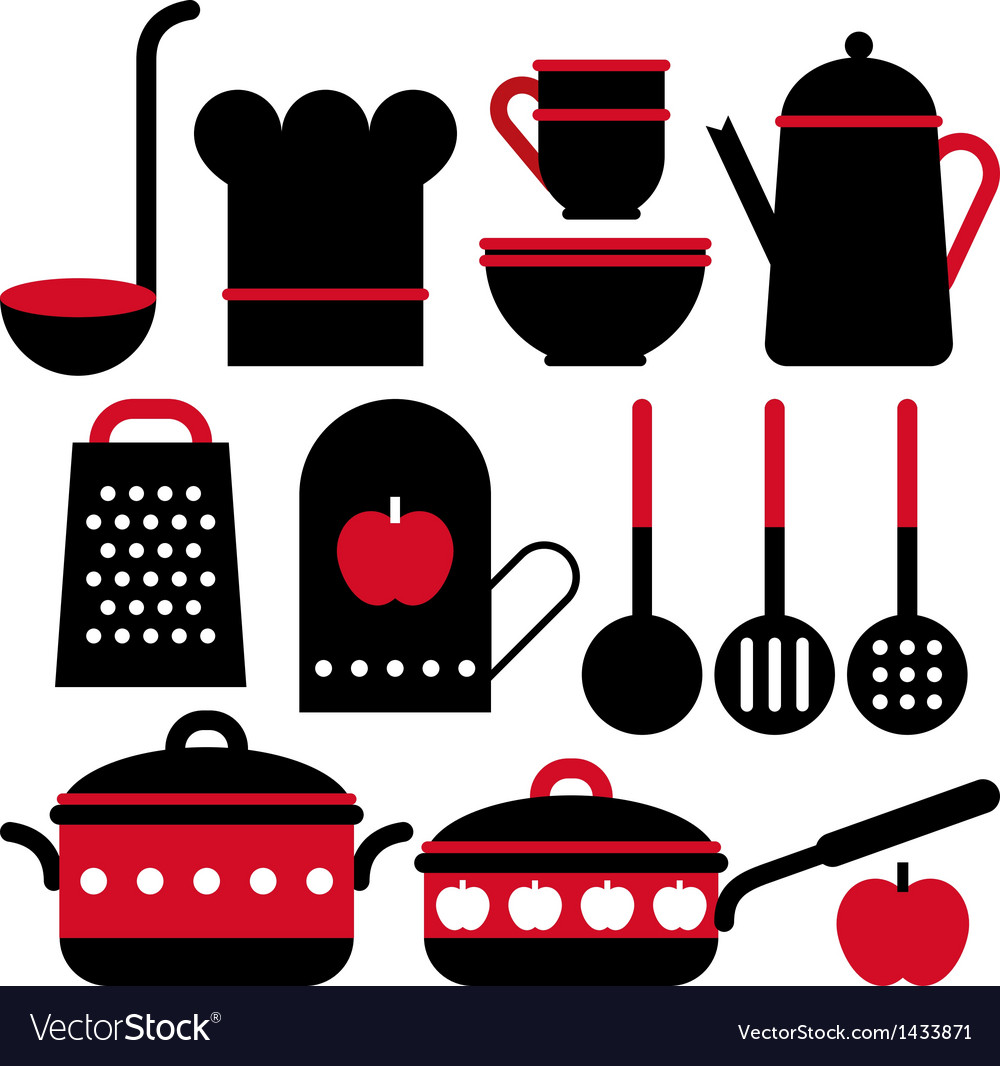 Kitchen utensil set vector | Price: 1 Credit (USD $1)