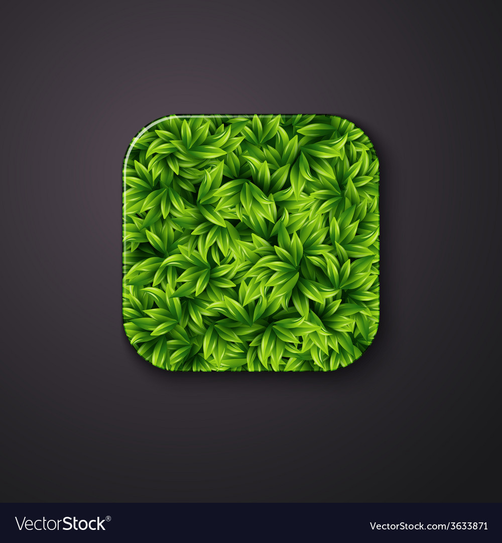 Leaves texture icon stylized like mobile app vector | Price: 1 Credit (USD $1)